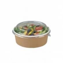 Pots à salade kraft avec couvercle PET 34oz/1L x 150
