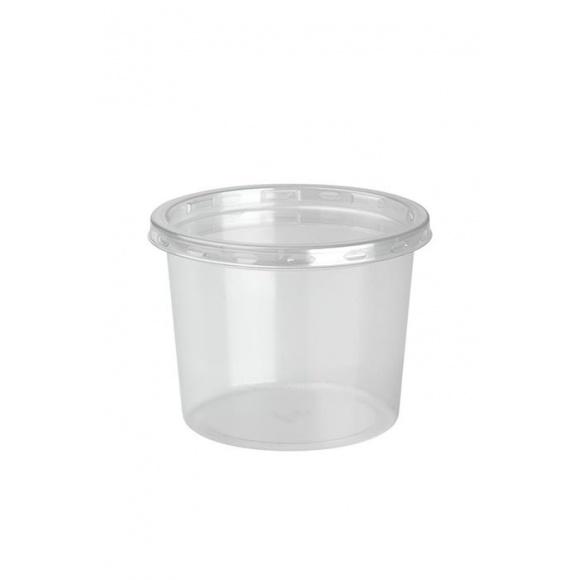 DELILITE Pots rPET + Couvercle 13,2oz/374ml x 500
