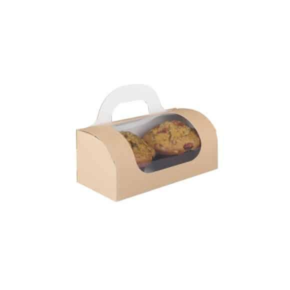 Boîte emboîtable pour 2 ou 4 muffins