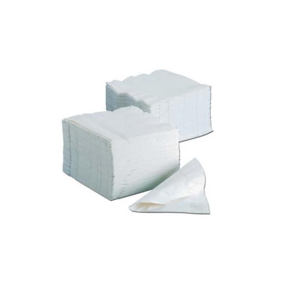 Serviettes blanches en papier 120 x 120 mm