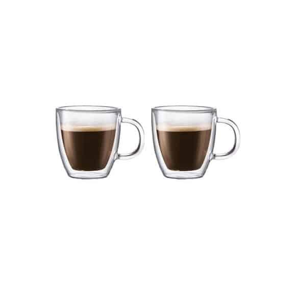 SET x 2 BISTRO Mug verre double paroi 10oz/300ml