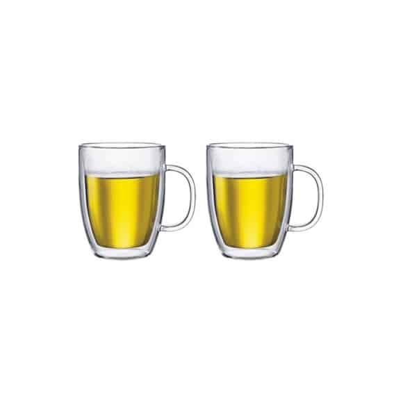 SET x 2 BISTRO Mug Large verre double paroi 15oz/450ml