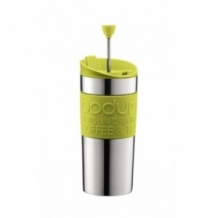 TRAVEL PRESS Mug Inox à piston Vert 12oz/350ml
