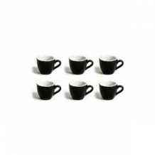 Set x 6 DEMI TASSE tasse porcelaine Noir 70ml