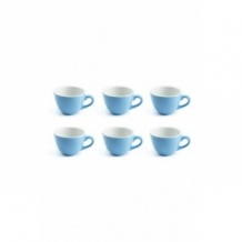 Set x 6 DEMI TASSE tasse porcelaine Bleu 70ml