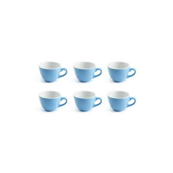 Set x 6 DEMI TASSE tasse porcelaine Bleu 70ml