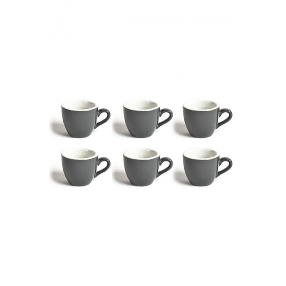 Set x 6 DEMI TASSE tasse porcelaine Gris 70ml