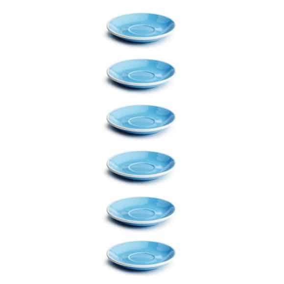 Set x 6 DEMI TASSE soucoupe porcelaine Bleu D.115mm