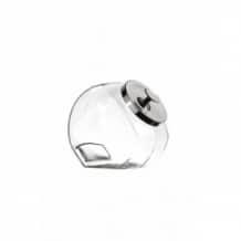 PENNY CANDY Jarre inclinée en verre Couvercle métal 1,9L