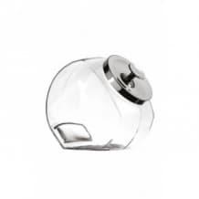PENNY CANDY Jarre inclinée en verre Couvercle métal 3,8L