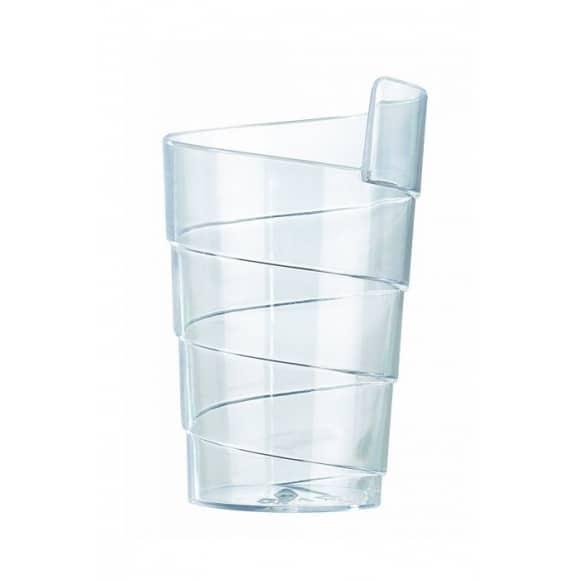 Sachet x 50 verrines Spirale plastique cristal 70ml