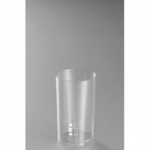 Sachet x 10 verres LONG DRINK plastique cristal 200ml