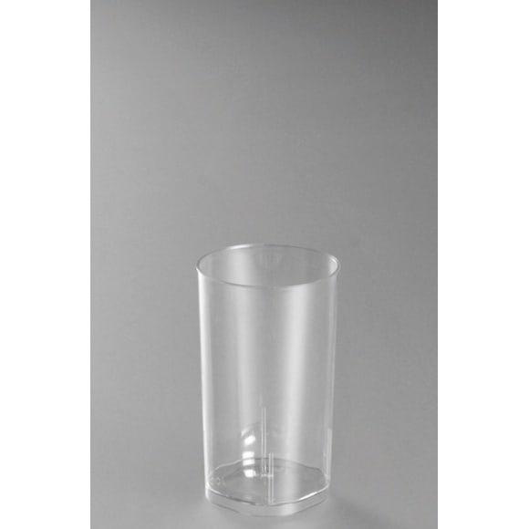 Sachet x 10 verres LONG DRINK plastique cristal 200ml