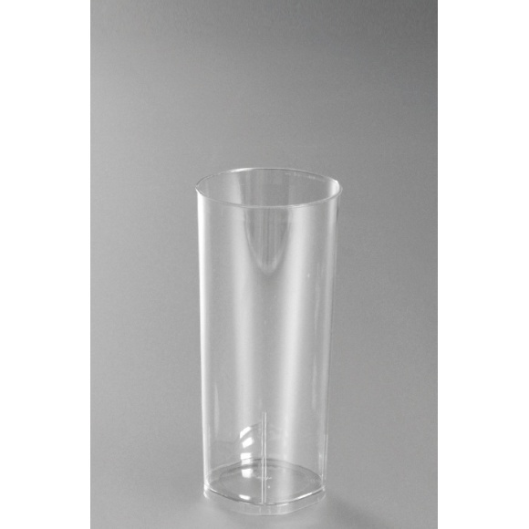 Sachet x 10 verres LONG DRINK plastique cristal 300ml