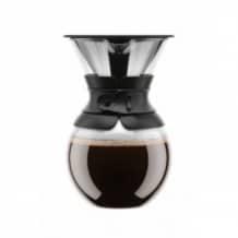 Lot de 4 Pour Over Cafetière Slow Coffee 8 Cup Noir