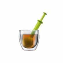 Lot de 6 Bistro Boule à thé en plastique Vert
