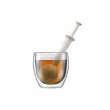 Lot de 6 Bistro Boule à thé en plastique Blanc