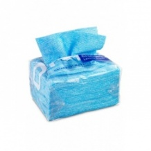 Lot de 16 sachets x 10 Lavettes SUPER réutilisables Bleu