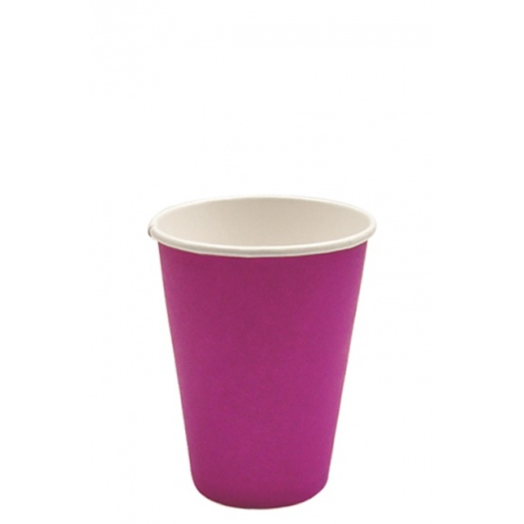 Lot de 20 x 50 gobelets carton Color Fuchsia 12oz/355ml