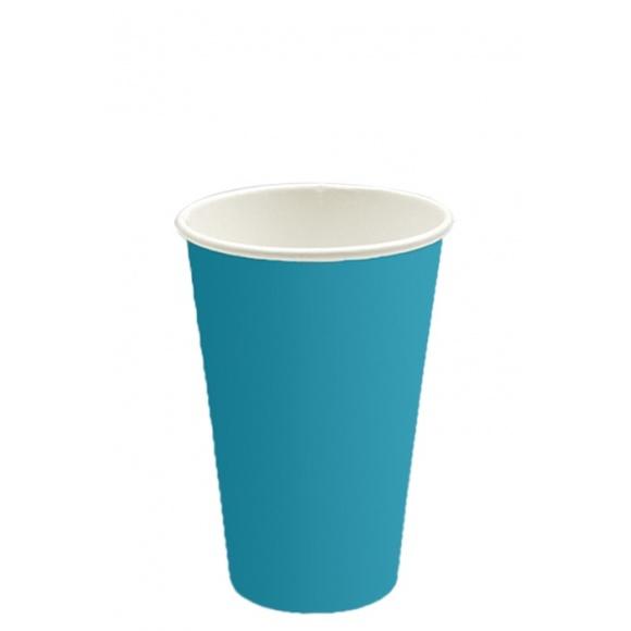 Lot de 20 x 50 gobelets carton Color Turquoise 16oz/473ml