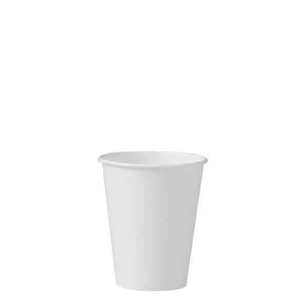 Lot de 20 x 50 gobelets carton Blanc 8oz/237ml Ø80mm