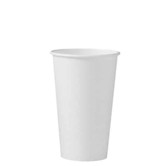 Lot de 20 x 50 gobelets carton Blanc 16oz/473ml
