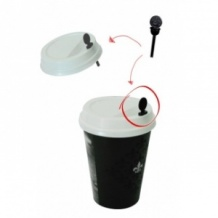 Lot de 10 x 200 agitateurs 2 en 1 Plastique Noir L.52mm