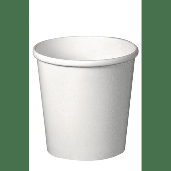 Lot de 20 sachets x 25 pots à soupe carton Blanc 473ml/16oz