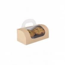 Lot de 5 sachets x 100 boîtes emboîtable pour 2 ou 4 muffins