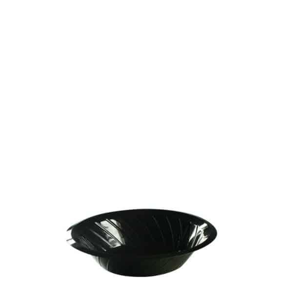 Lot de 6 sachets x 100 assiettes creuses plastique noir D.175 mm