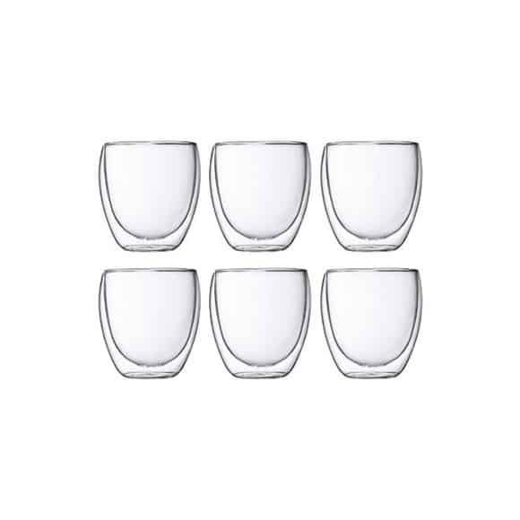Lot de 6 SET x 6 PAVINA Verre double paroi 8oz/250ml