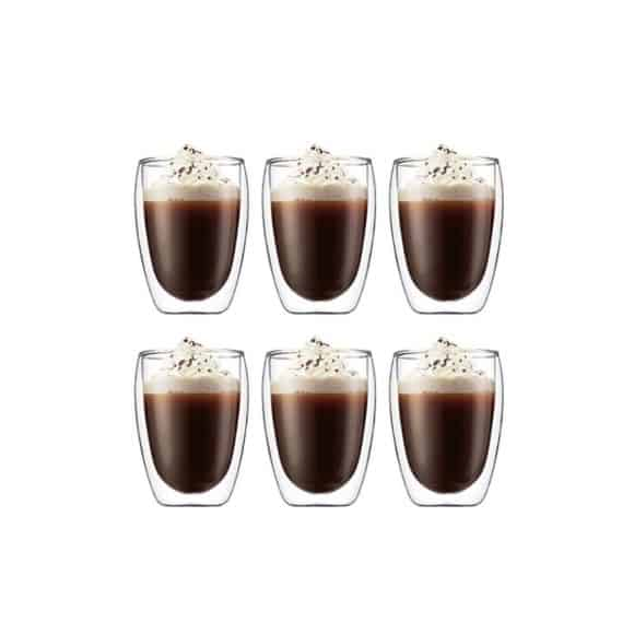 Lot de 6 SET x 6 PAVINA Verre double paroi 12oz/350ml