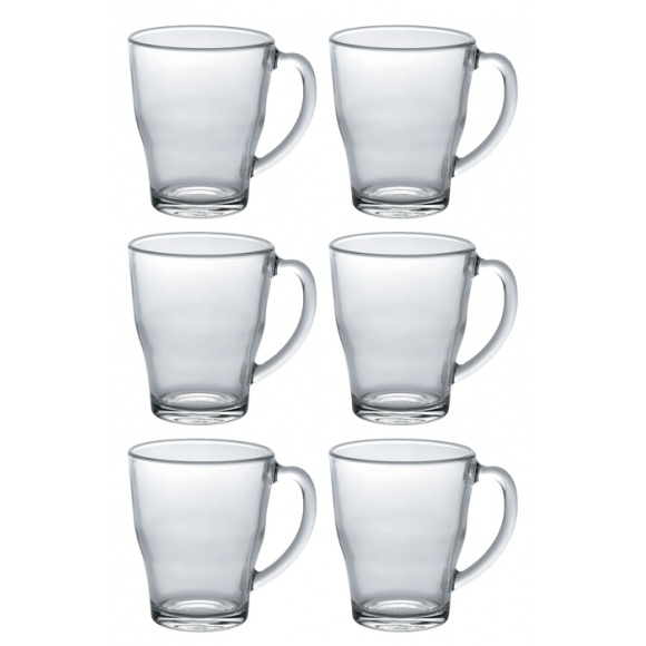 SET x 6 COSY Mug en verre 350ml