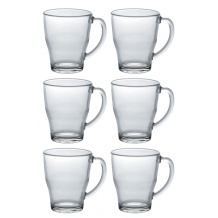 Lot de 24 SET x 6 COSY Mug en verre 350ml