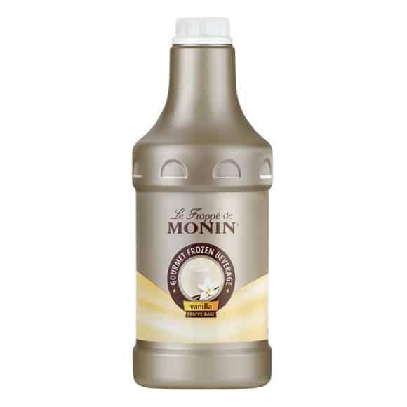 Lot de 4 bases liquides vanille pour frappé bidon 1.89L