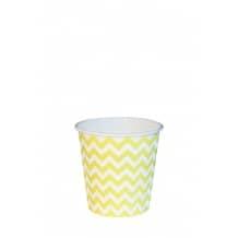 Sachet x 50 gobelets carton Geometric jaune 4oz/120ml
