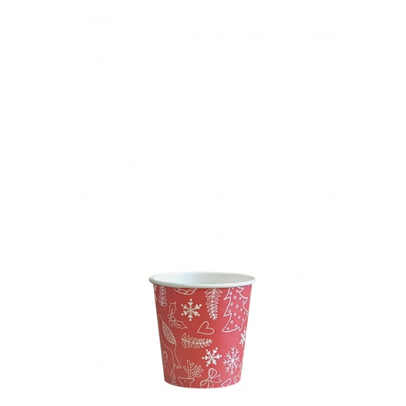 Sachet x 50 gobelets carton Noël 4oz/120ml