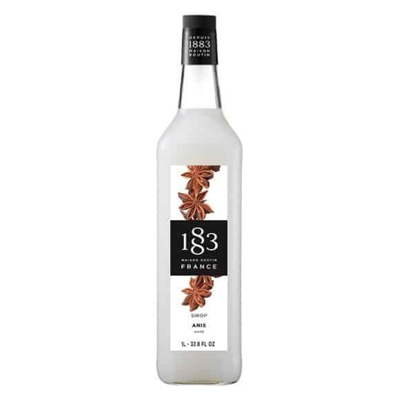 Lot de 6 Sirops Anis bouteille verre 1L