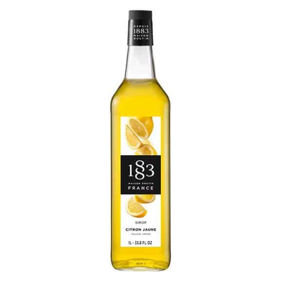 Lot de 6 Sirops Citron jaune bouteille verre 1L