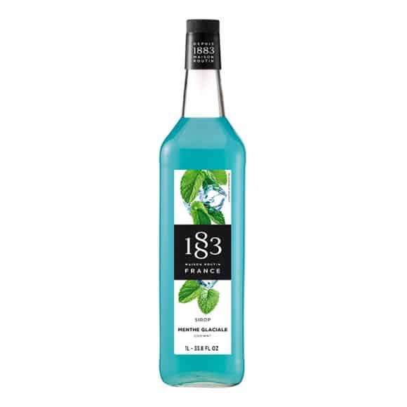 Lot de 6 Sirops Menthe glaciale bouteille verre 1L