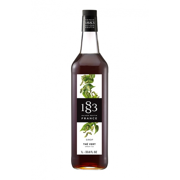 Sirop Thé vert bouteille verre 1L