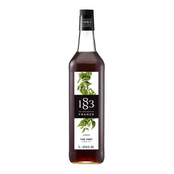 Lot de 6 Sirops Thé vert bouteille verre 1L