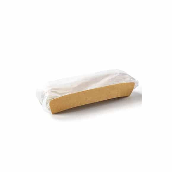 Etui kraft avec film papier pour sandwichs chauds x 1000