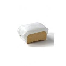 Handrap étui kraft avec film papier pour snacks chauds x 1000