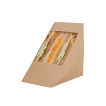 Boîte à sandwich triangle kraft triple x 500