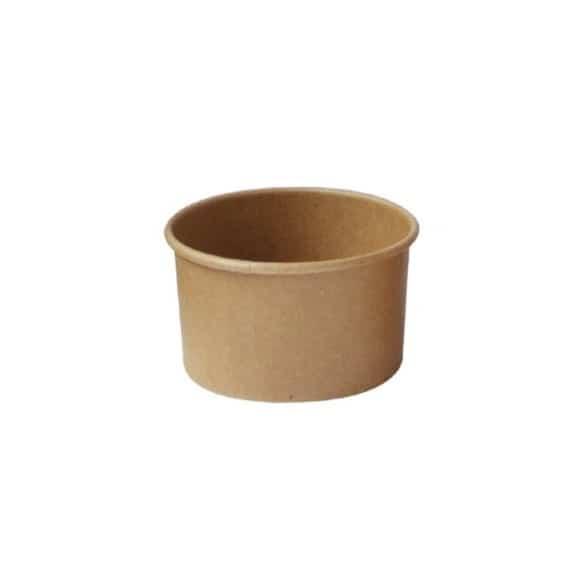 Lot de 20 sachets x 50 pots à glace Kraft 6oz/177ml