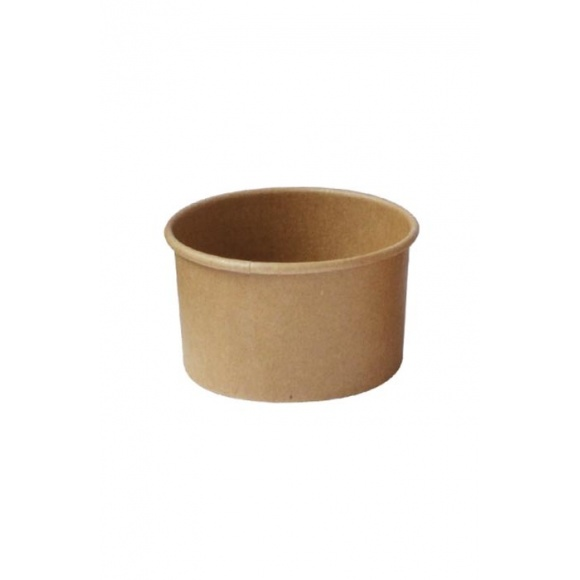 Lot de 20 sachets x 50 pots à glace Kraft 5oz/150ml