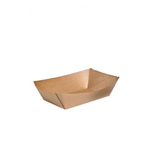 Barquettes bateau kraft 1,2L x 500