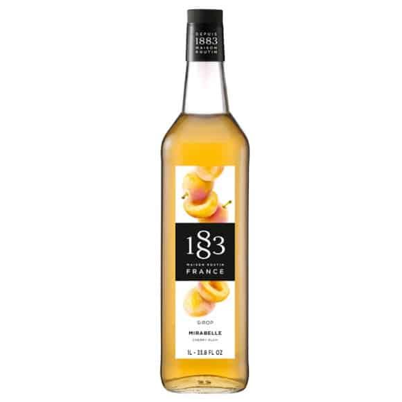 Lot de 6 Sirops Mirabelle bouteille verre 1L