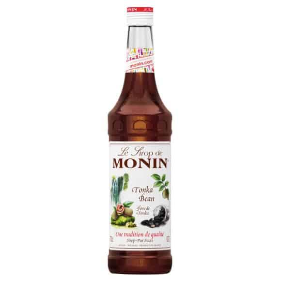 sirop feve de tonka monin bouteille verre 70cl